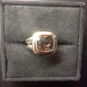 David Y 11x11mm Morganite Ring Sz 8